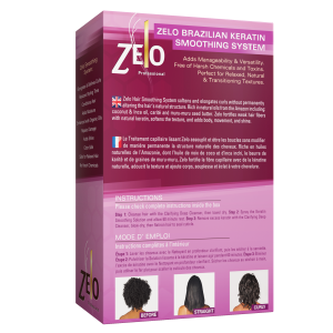 Zelo Brazilian Keratin Smoothing back box